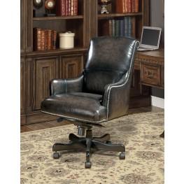 Smoke Leather Desk Chair