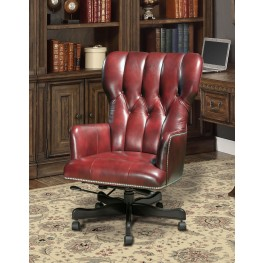 Lipstick Leather Desk Chair