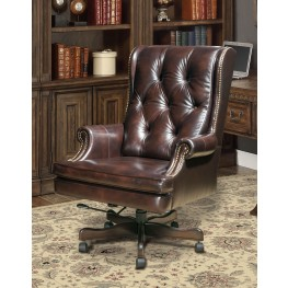 Havana Leather Desk Chair