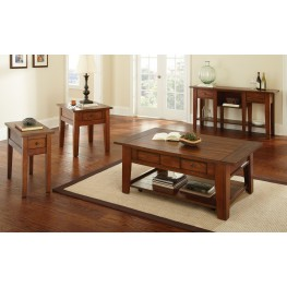 Desoto Medium Red Oak Occasional Table Set
