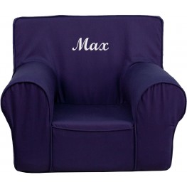 32121 Personalized Small Solid Navy Blue Kids Chair