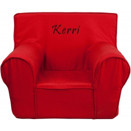 32124 Personalized Small Solid Red Kids Chair