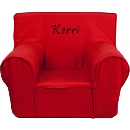32125 Personalized Small Solid Red Kids Chair