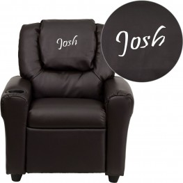 Brown Kids Recliner with Applique Headrest