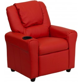 Red Kids Recliner With Cup Holder And Headrest (Min Order Qty Required)