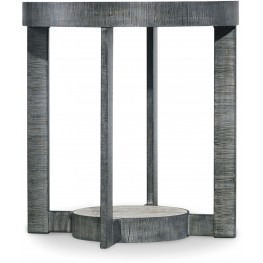 Mill Valley Gray Round End Table