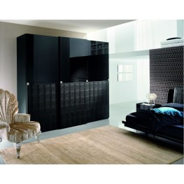Diamond Black Sliding Door Wardrobe (2 Doors)