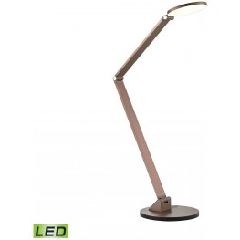Anodized Rose Gold Mono Disc Elbow Desk Lamp