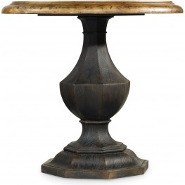 Sanctuary Black Round Accent Table