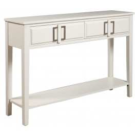 Traditional Soft White 2 Drawer Console Table