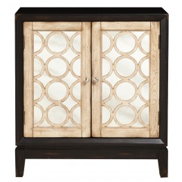 Black and White 2 Door Accent Chest