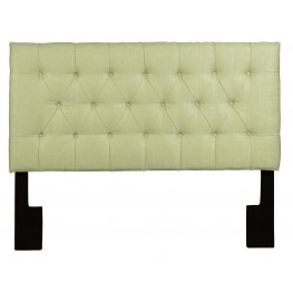 Full/Queen Upholstered Tuxedo Lime Headboard
