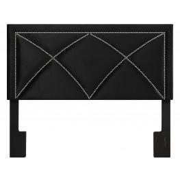 Velvet Black King Upholstered Headboard