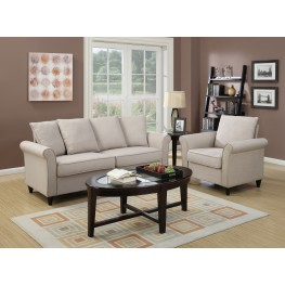 Rollarm Hayden Beige Living Room Set