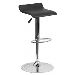 1000781 Black Vinyl Adjustable Height Bar Stool
