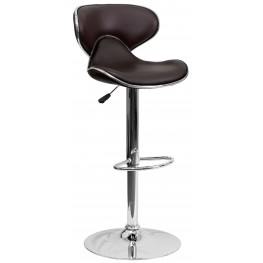 Cozy Brown Adjustable Height Bar Stool (Min Order Qty Required)