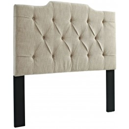 Full and Queen Tufted Linen Panel Headboard