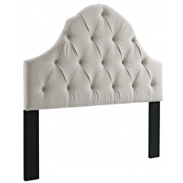 King-Cal. King Round Top Tufted Linen Headboard