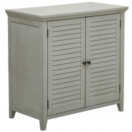 Cool Grey 2 Louvered Door Bathroom Storage