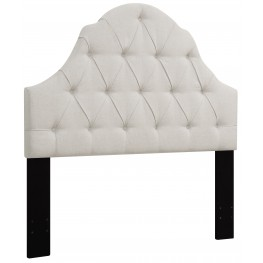 Linen King/Cal. King Button Tufted Upholstered Headboard
