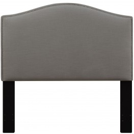Ash Full/Queen Nailhead Upholstered Headboard