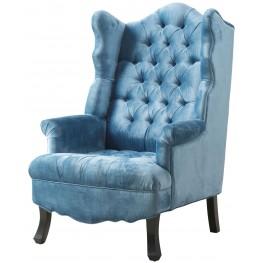 Madison Blue Velvet Wing Chair