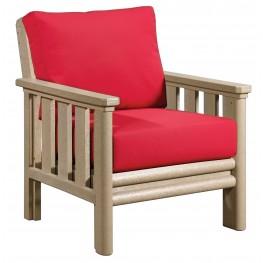 Stratford Beige Chair With Jockey Red Sunbrella Cushions