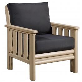 Stratford Beige Chair With Black Sunbrella Cushions