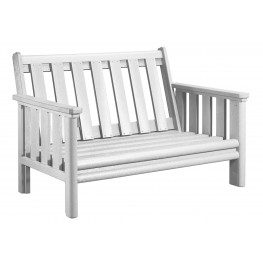 Stratford White Deep Seating Loveseat Frame
