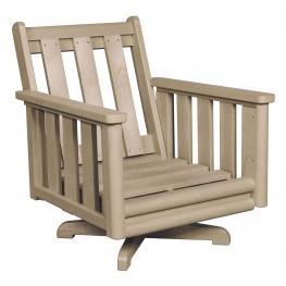 Stratford Beige Deep Swivel Chair Frame