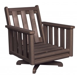 Stratford Chocolate Deep Swivel Chair Frame