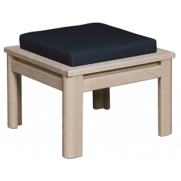 Stratford Beige Small Ottoman With Milano Charcoal Cushions