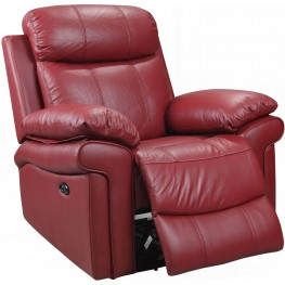 Shae Joplin Red Leather Power Reclining Chair