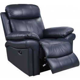 Shae Joplin Blue Leather Power Reclining Chair