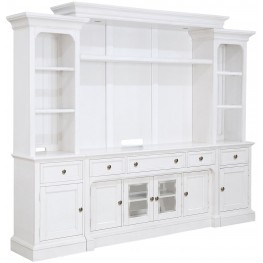 Laurel Garden Soft White Entertainment Wall