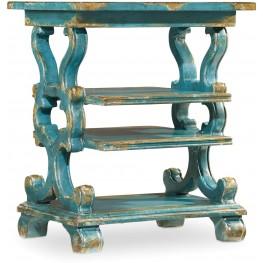 Sanctuary Blue Rectangular Accent Table