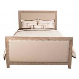 Eden Stone Wash Upholstered Queen Panel Bed