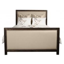 Eden Rustic Java Upholstered Cal. King Panel Bed