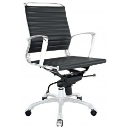 Tempo Black Mid Back Office Chair