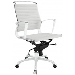 Tempo White Mid Back Office Chair