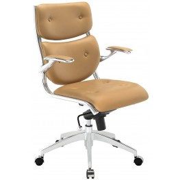Push Tan Midback Office Chair