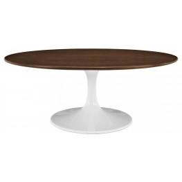 "Lippa 42"" Walnut Coffee Table"