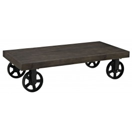 Garrison Black Wood Top Coffee Table