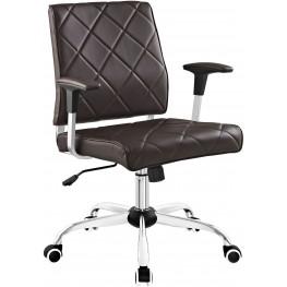 Lattice Brown Vinyl Office Chair