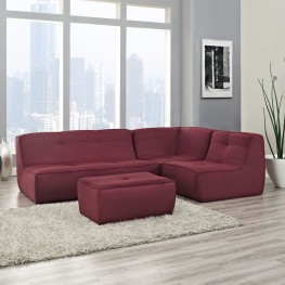 Align Berry 4 Piece Upholstered Sectional Sofa