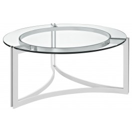 Signet Silver Stainless Steel Coffee Table