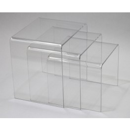 Casper Clear Nesting Table 3 piece set