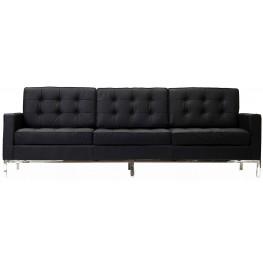 Loft Sofa in Black Genuine Leather