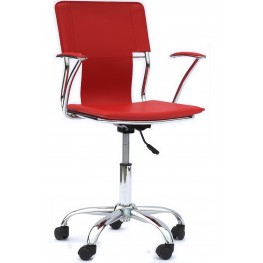Studio Office Chair in Red Vinyl