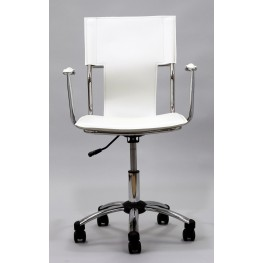 Studio Office Chair in White Vinyl